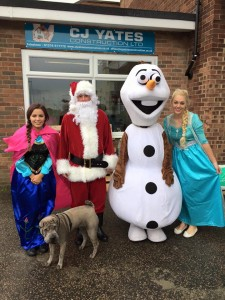 Merry Christmas to all of our wonderful customers from C J Yates Construction Ltd  and our friends from Frozen.